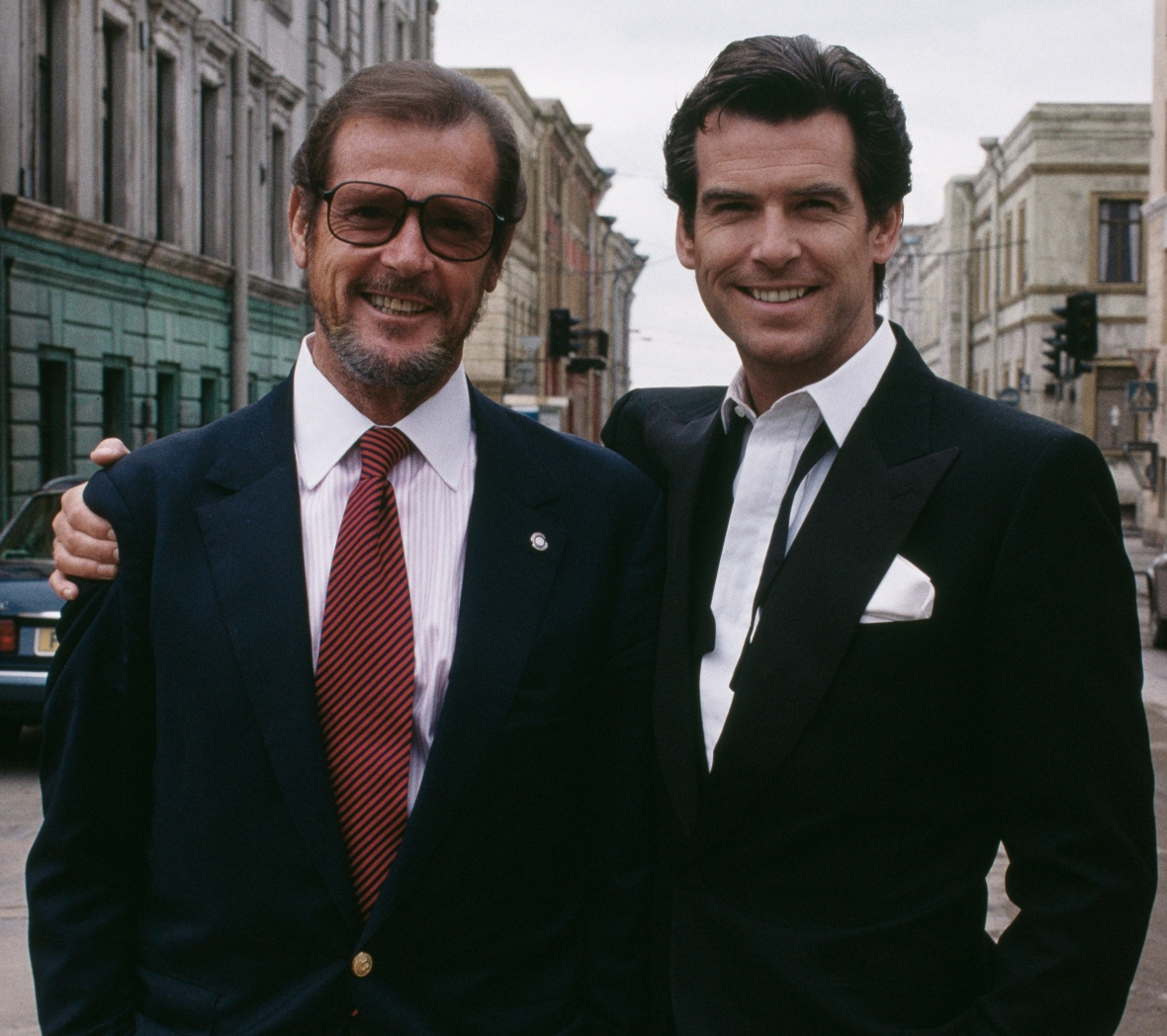goldeneye - pierce brosnan and roger moore