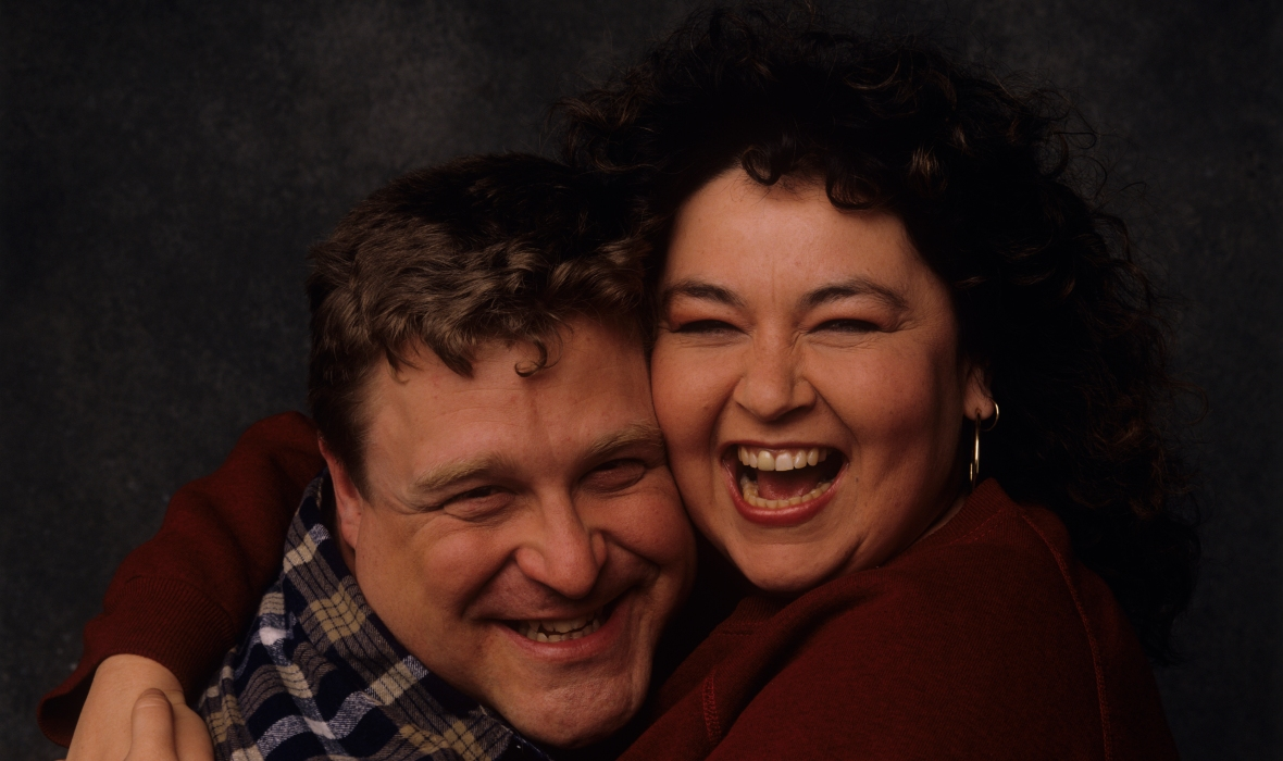 john goodman roseanne barr getty images
