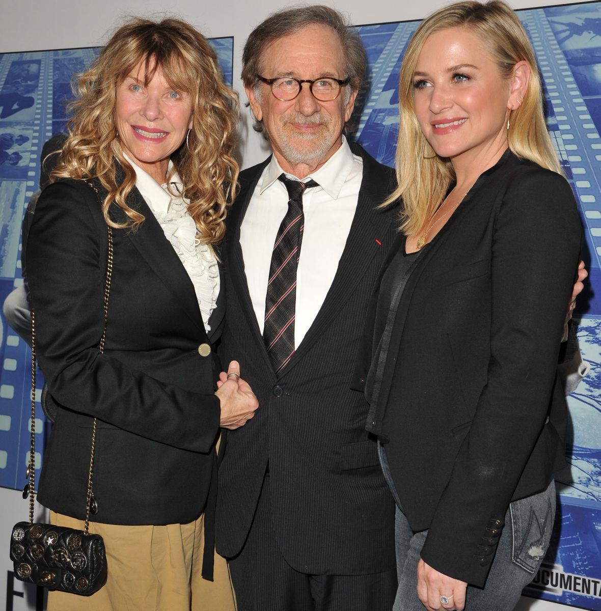 kate capshaw jessica capshaw steven spielberg getty images