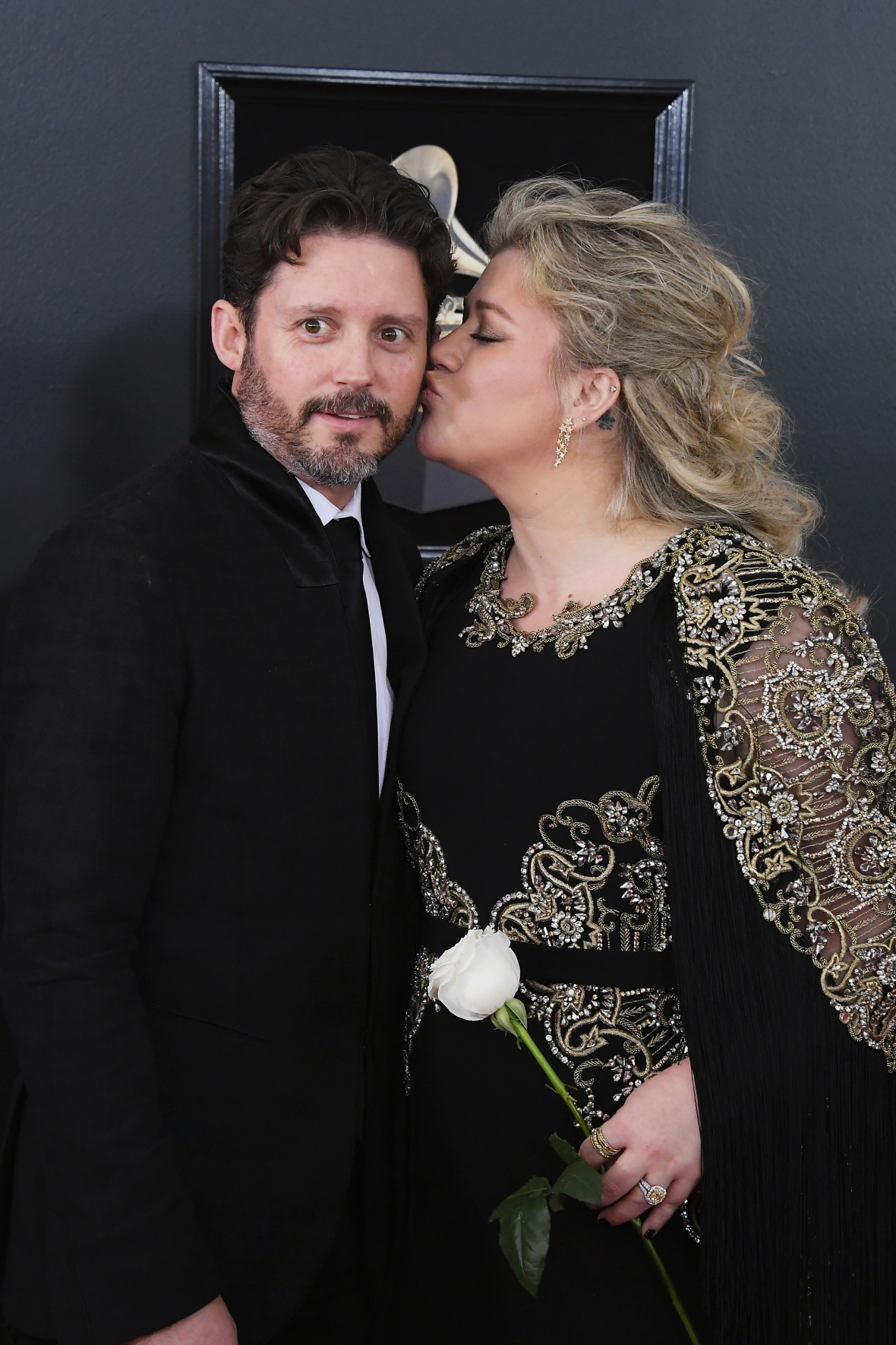 kelly clarkson and brandon getty images