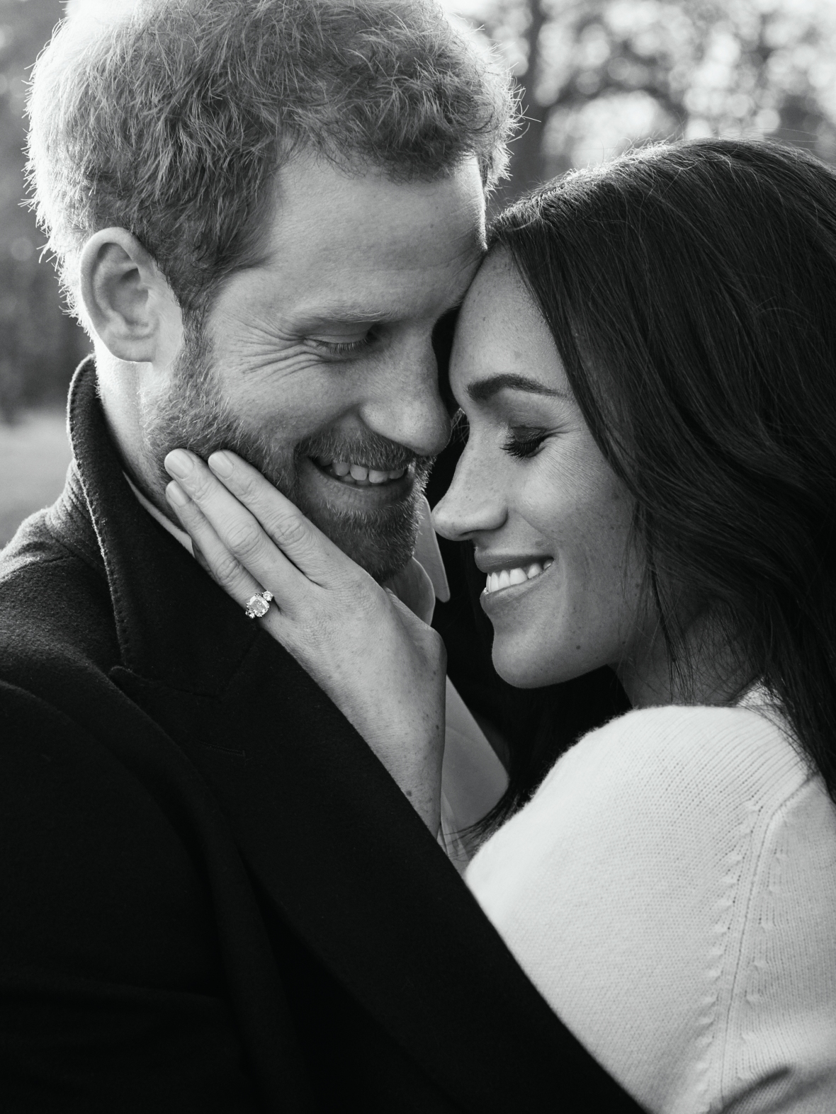 prince harry & meghan markle engagement photo getty images
