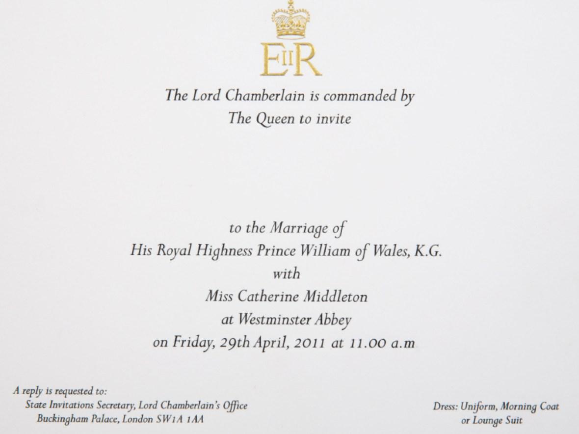 royal wedding invitation getty images