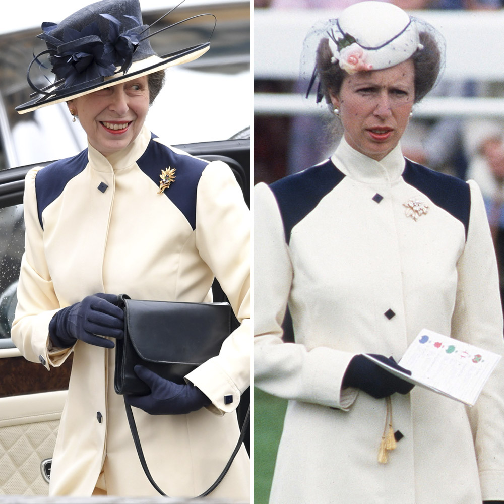 princess anne recycled outfit getty images