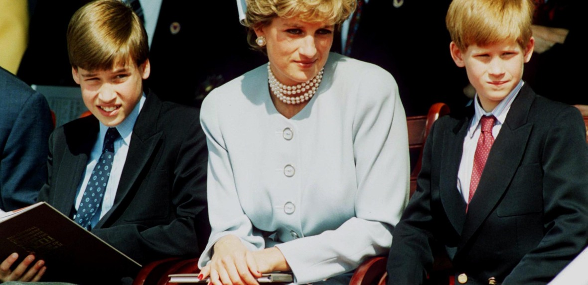 princess diana with william and harry - getty