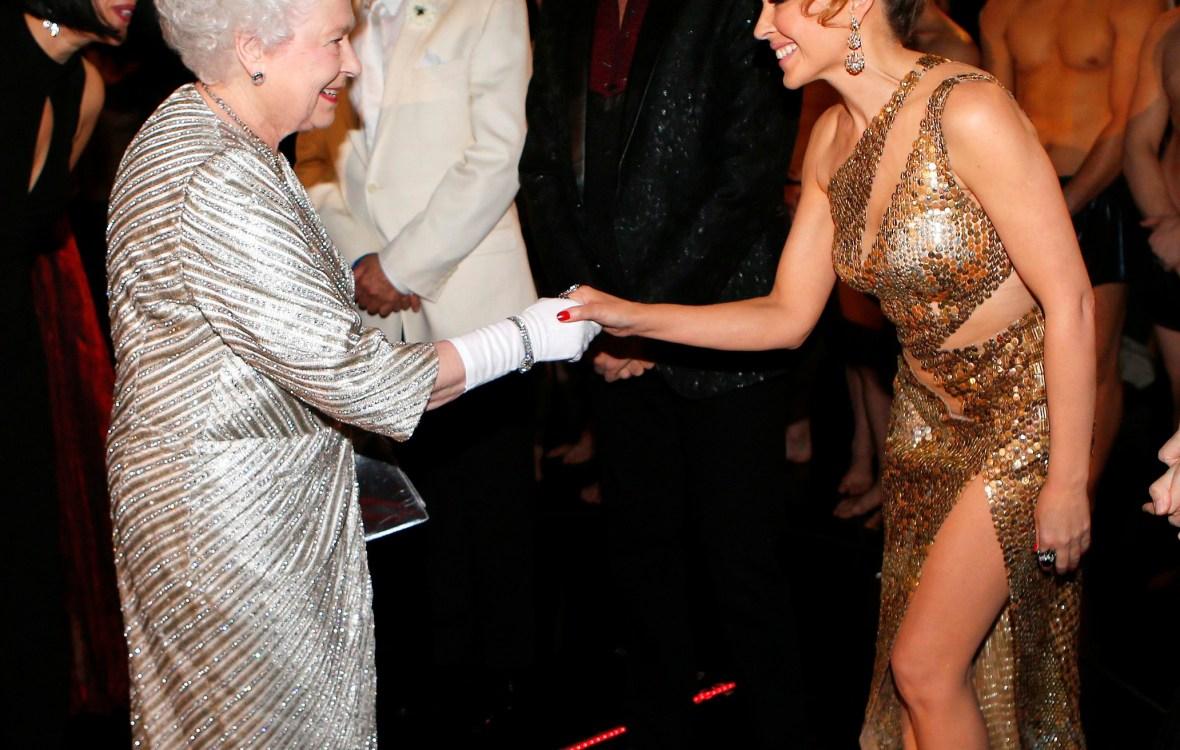 queen elizabeth kylie minogue getty images