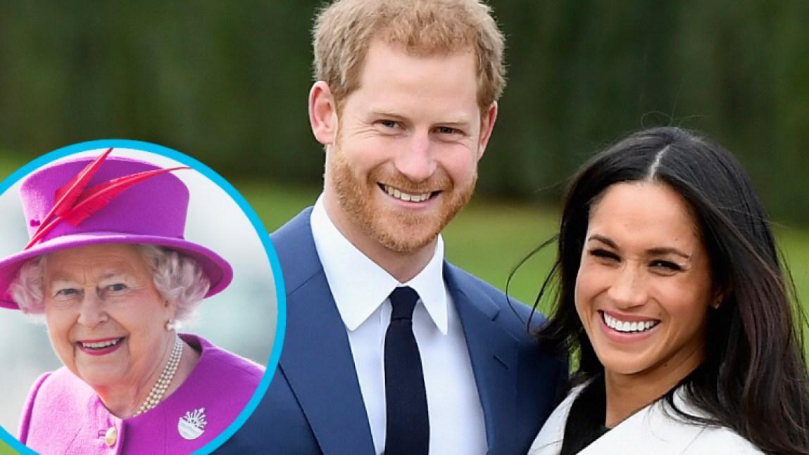queen elizabeth prince harry meghan markle getty images