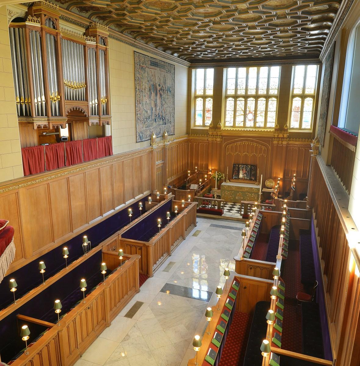 royal chapel at st. james's palace getty images