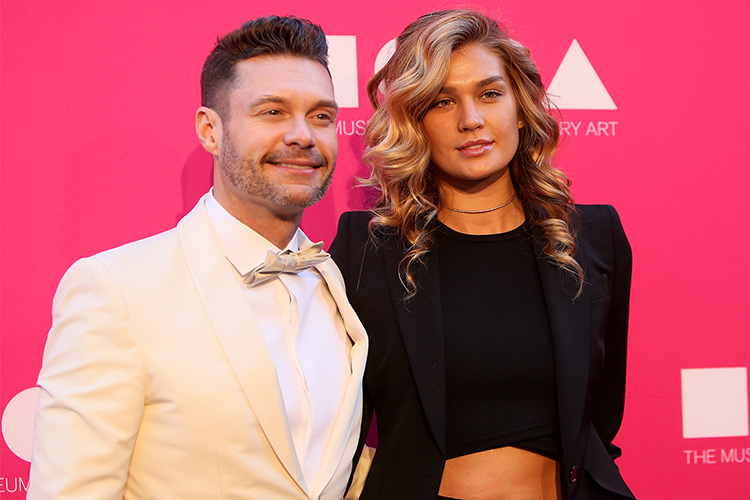 ryan seacrest and shayna getty images