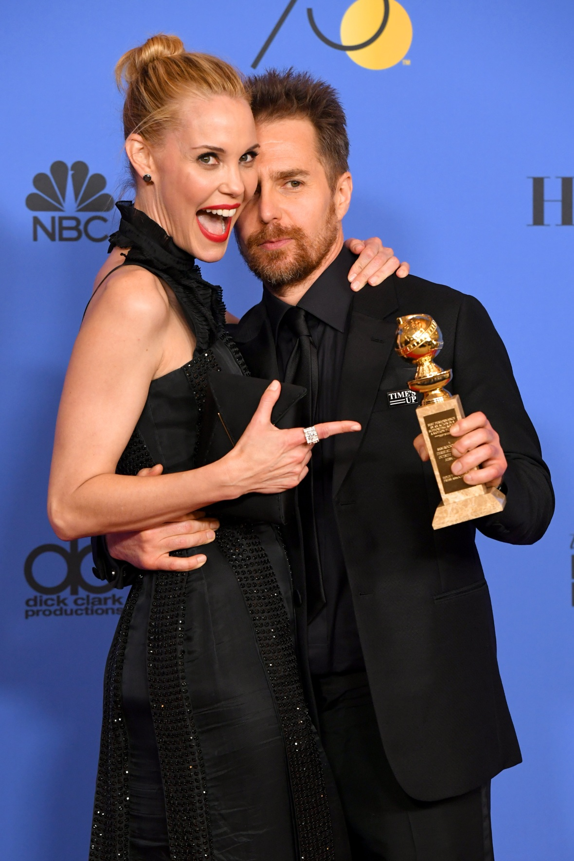 sam rockwell and his girlfriend leslie getty images