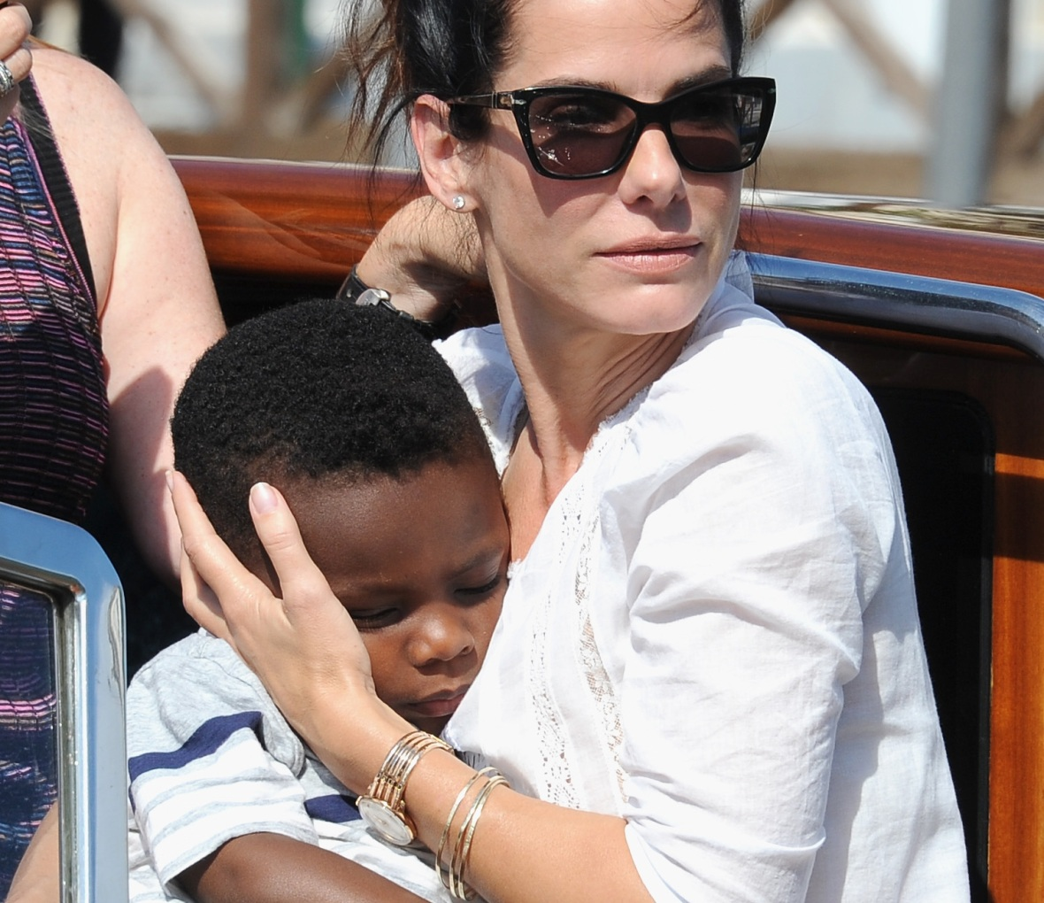 sandra and her son louis getty images