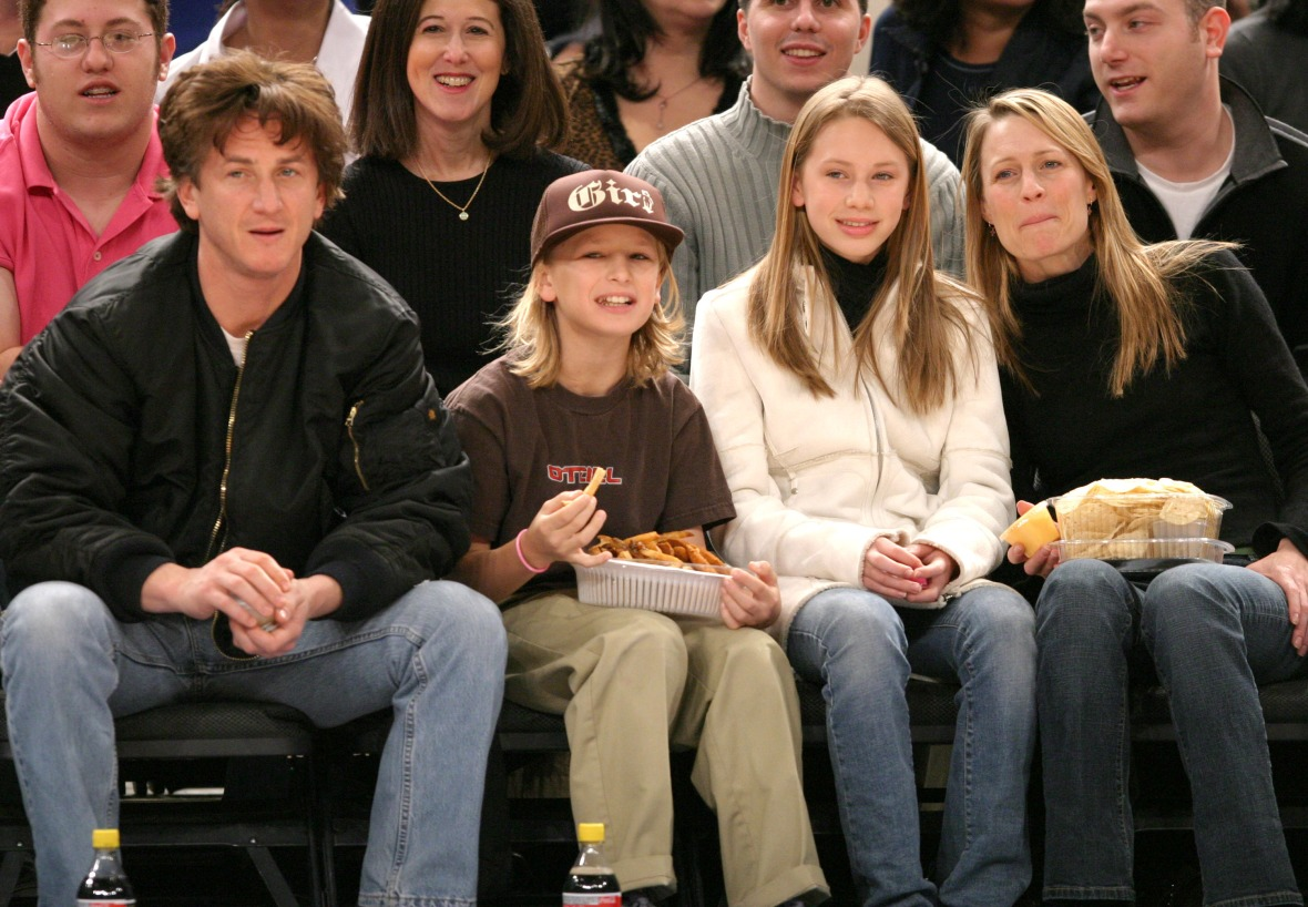 sean penn robin wright kids getty images
