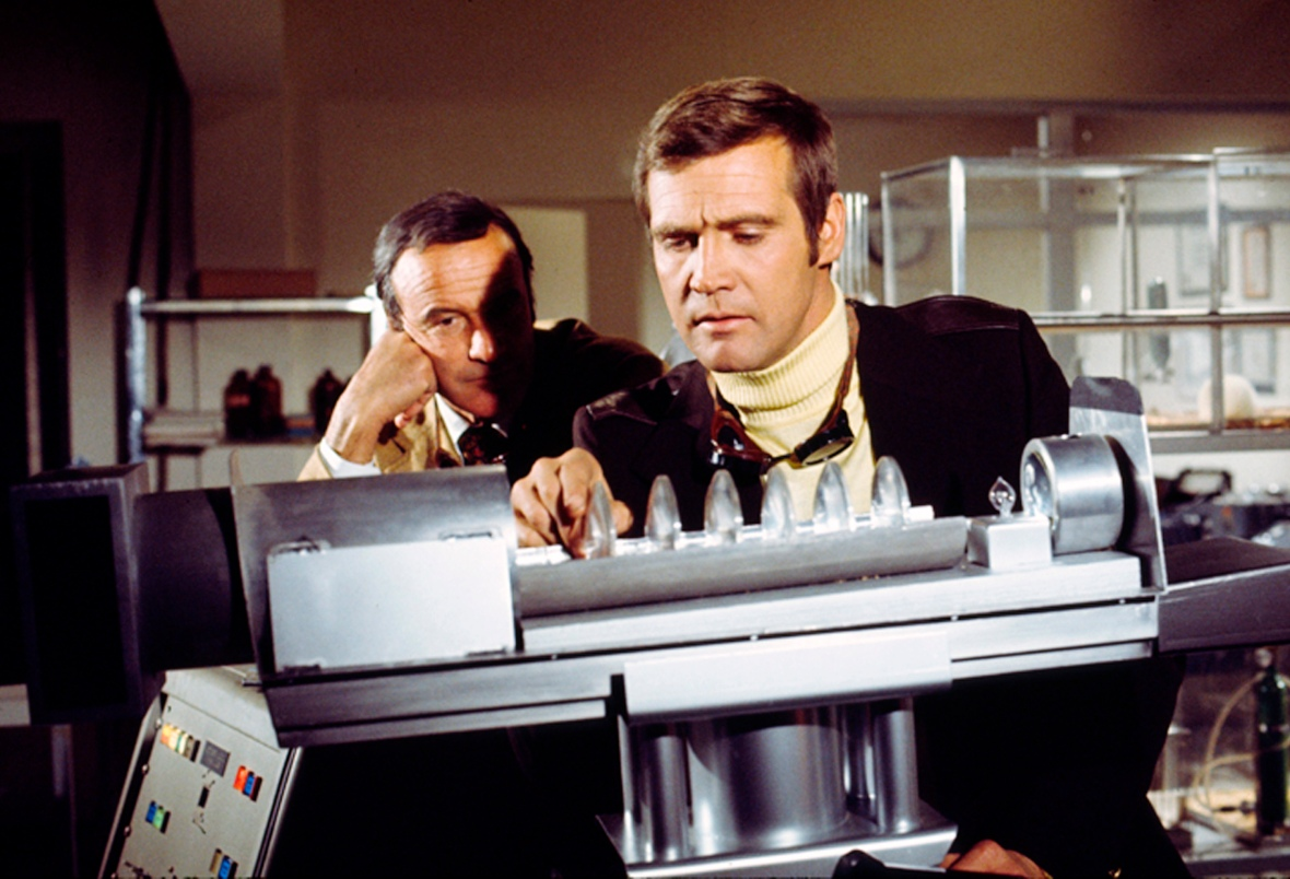 six million dollar man - oscar goldman and steve austin