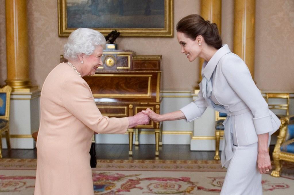 Angelina Jolie Queen Elizabeth