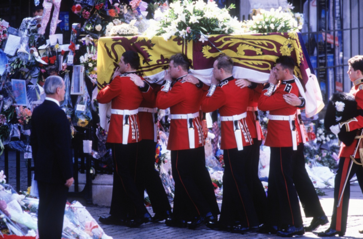 princess diana's funeral getty images