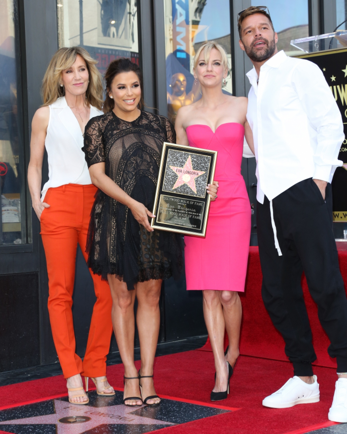 eva longoria hollywood walk of fame getty images