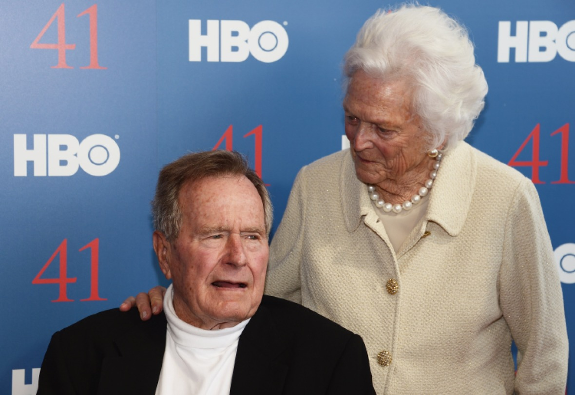 george h.w. bush and barbara getty