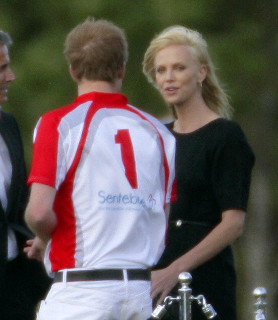 charlize theron and prince harry in 2011 getty