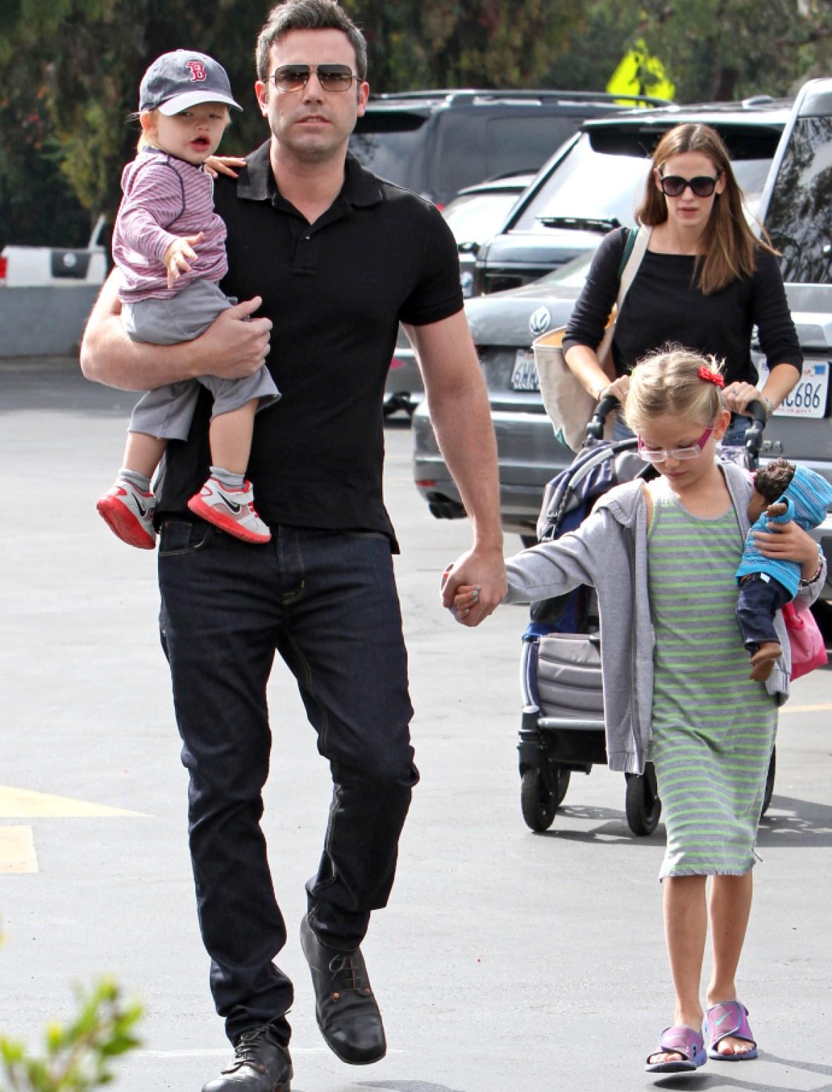 jennifer garner, ben affleck, and kids in 2013 getty