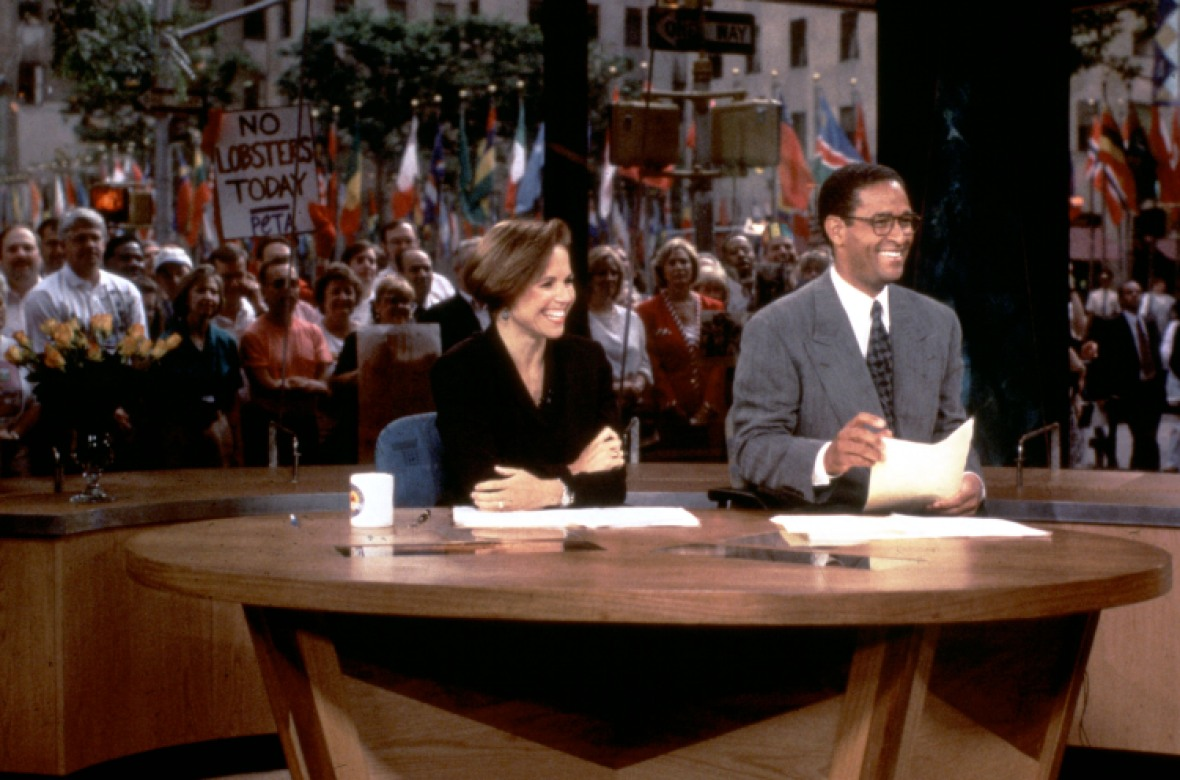 katie couric bryant gumbel today show 1994 getty