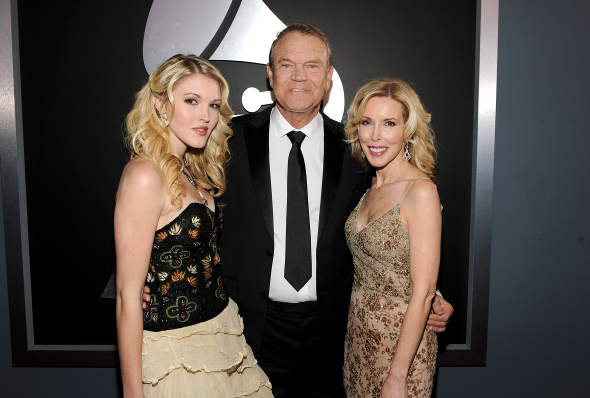 glen campbell, kim and ashley getty images