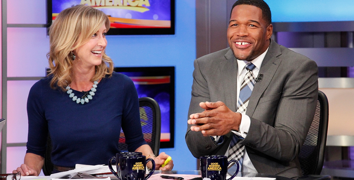 lara spencer michael strahan getty images