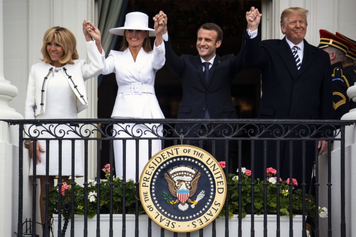 melania trump french first lady getty images