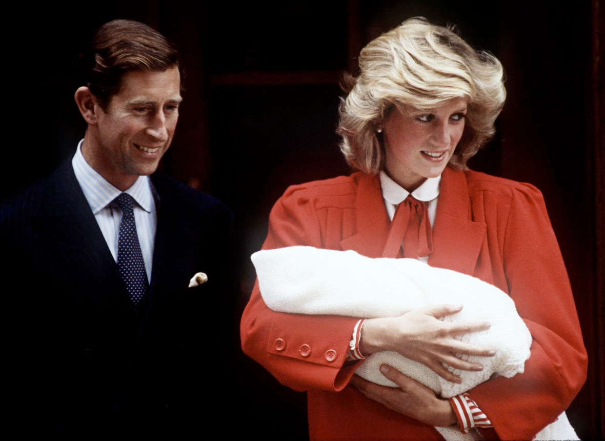 princess diana prince harry hospital getty images