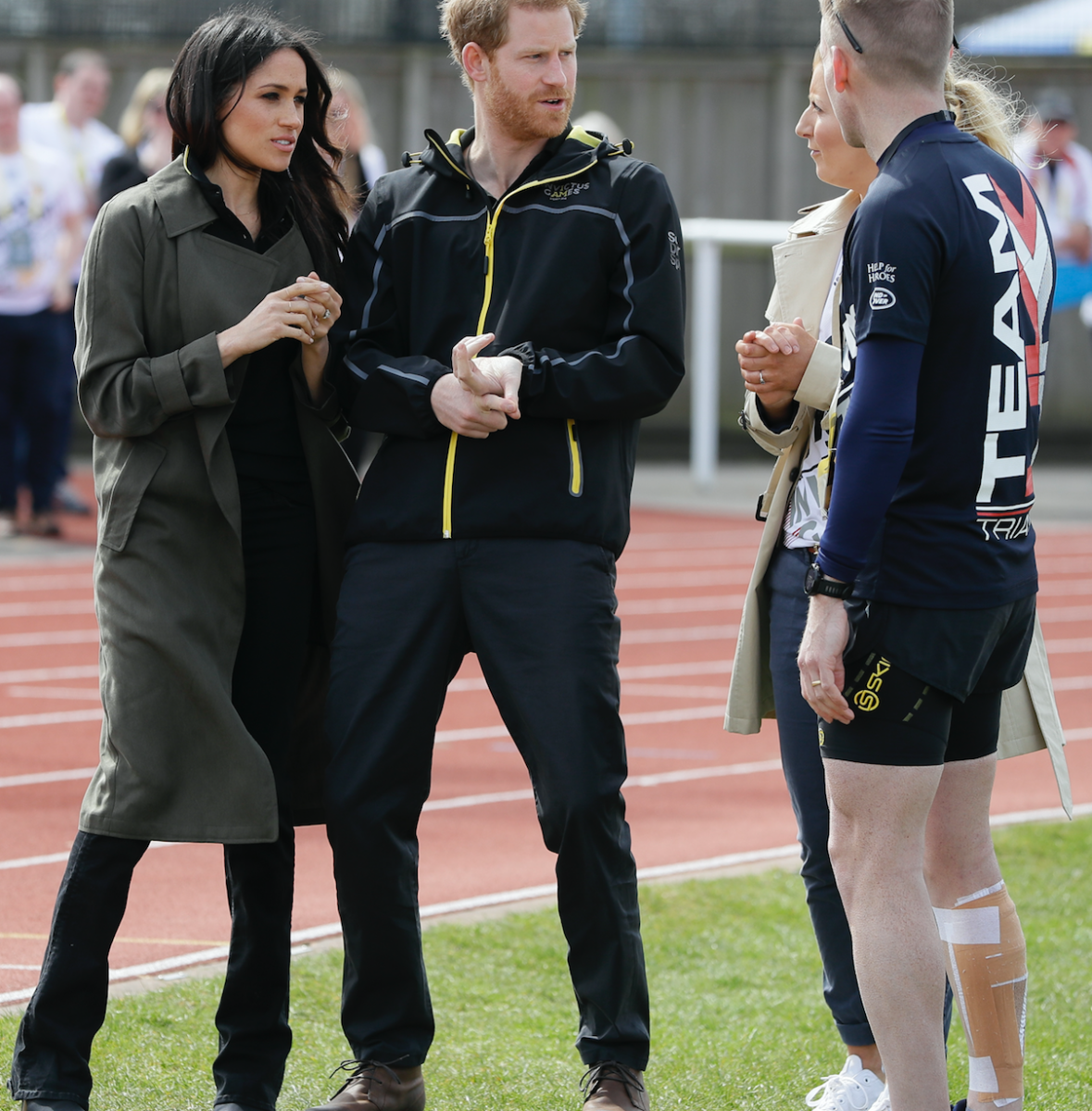 prince harry meghan markle invictus games getty