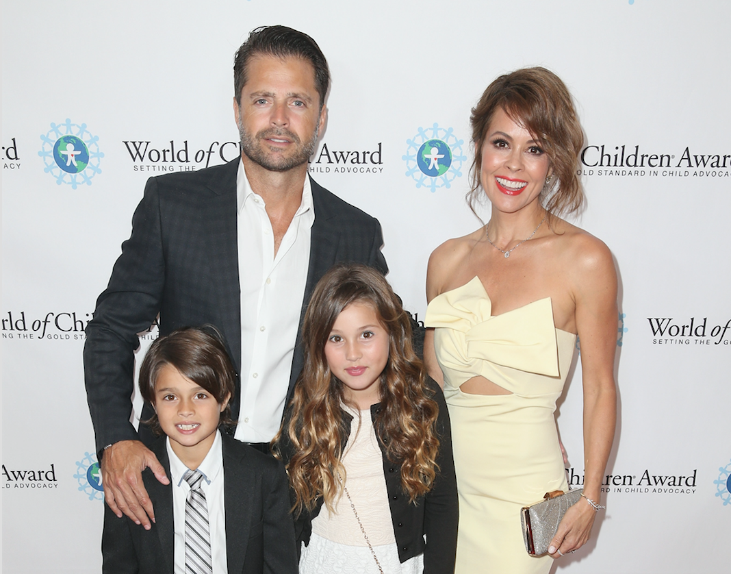 brooke burke and family in april 2016 getty