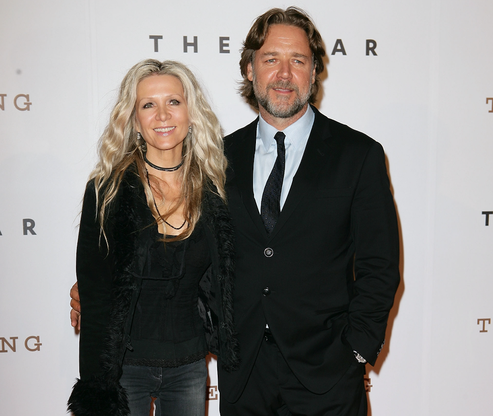 russell crowe and danielle spencer in 2011 getty