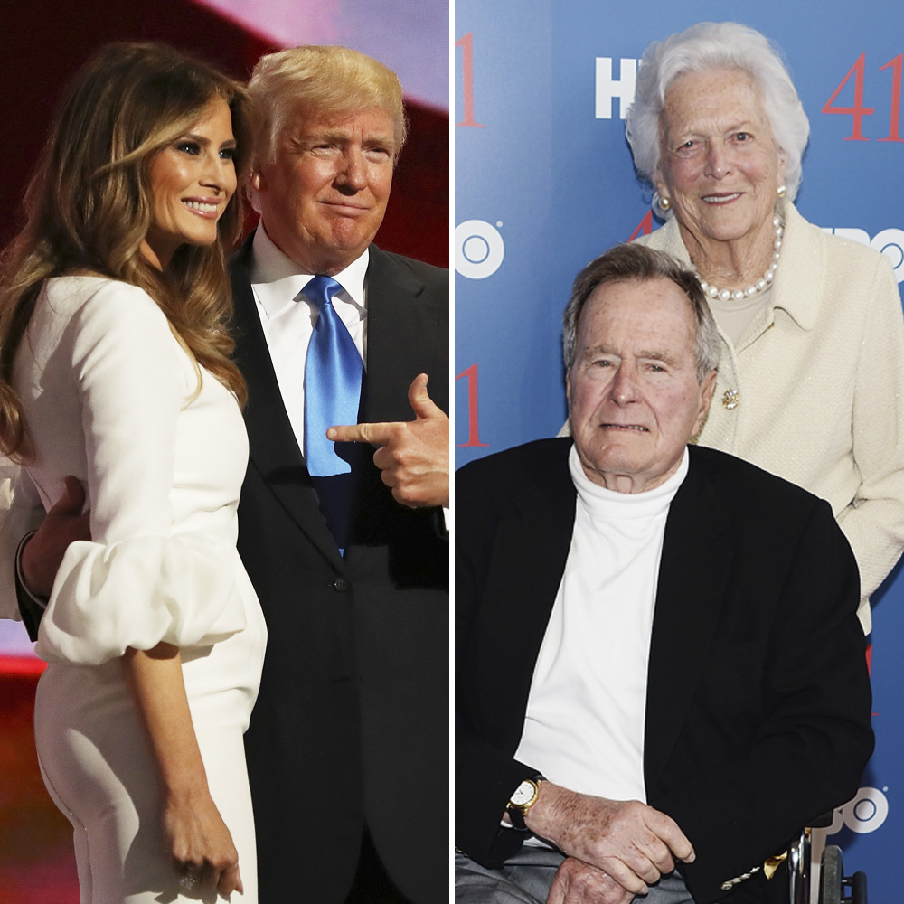 trumps bushes getty images