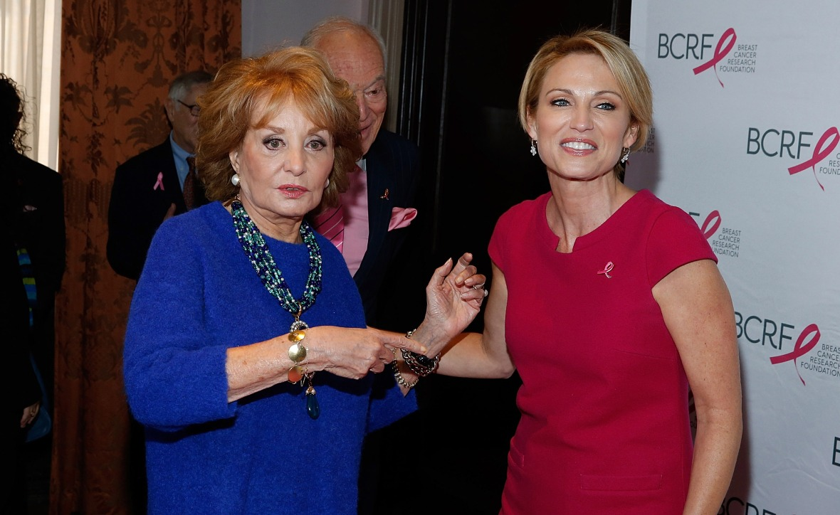 amy robach and barbara walters getty images