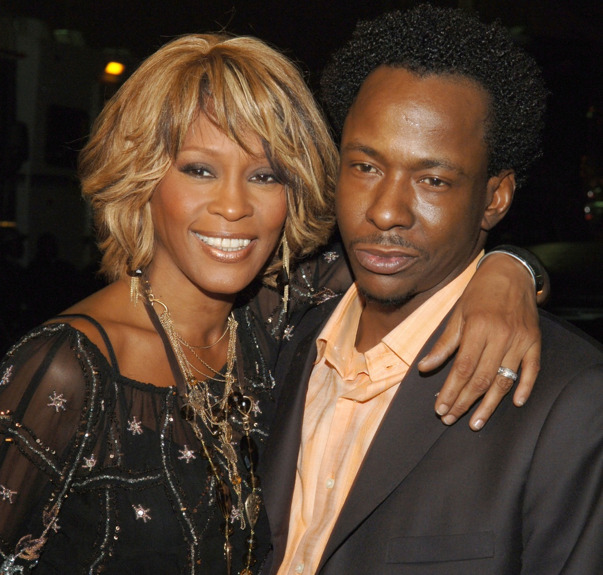 bobby brown whitney houston getty images