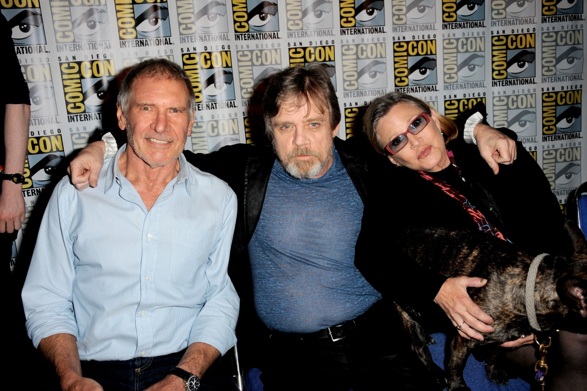 harrison ford mark hammil carrie fisher getty images