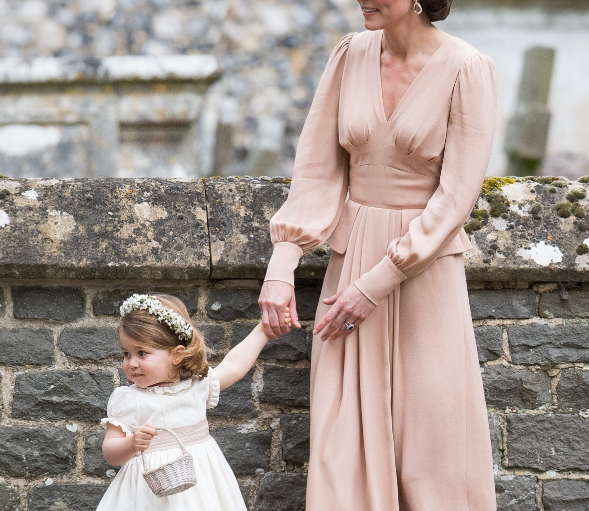 princess charlotte at pippa's wedding getty images