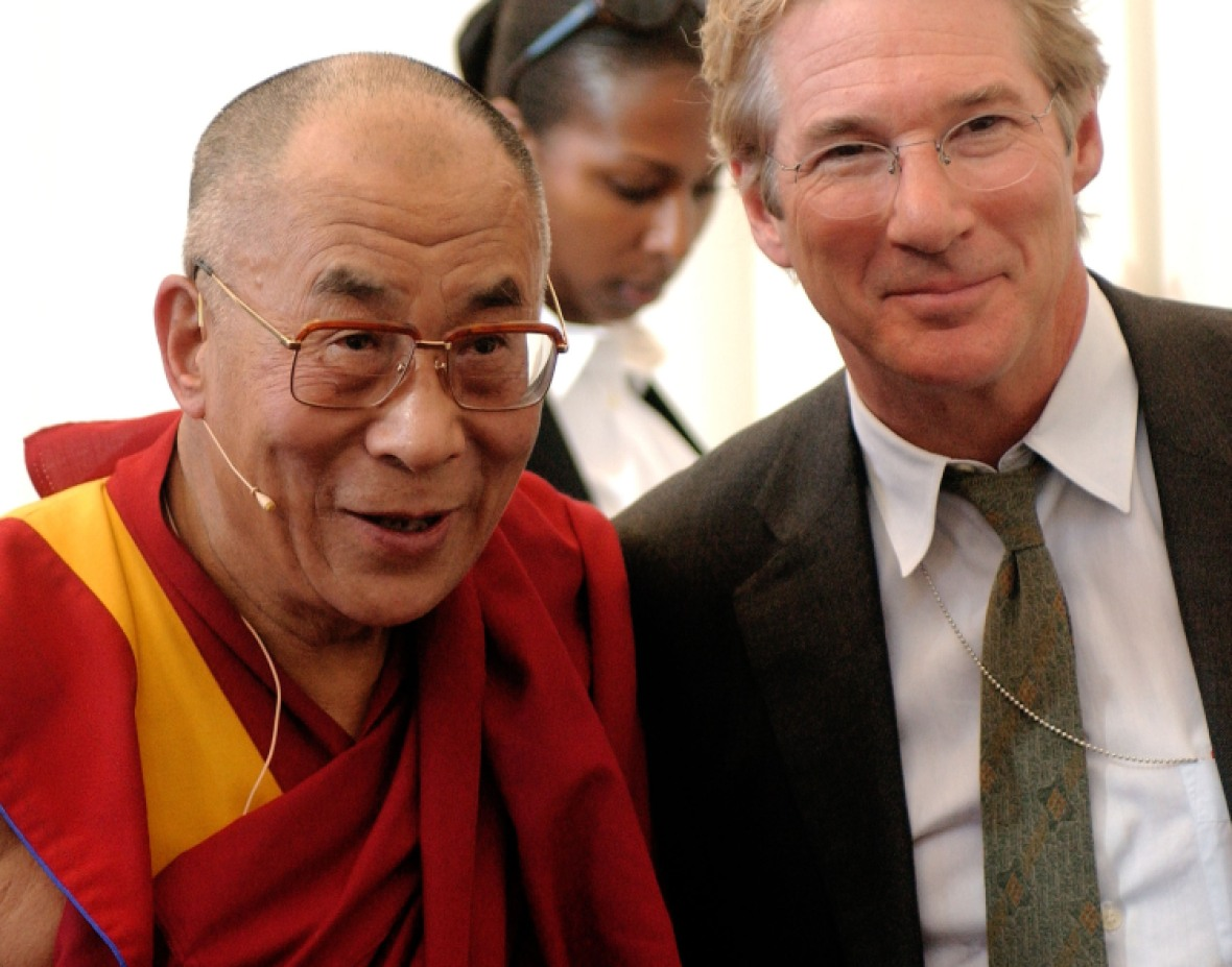 dalai lama and richard gere getty images