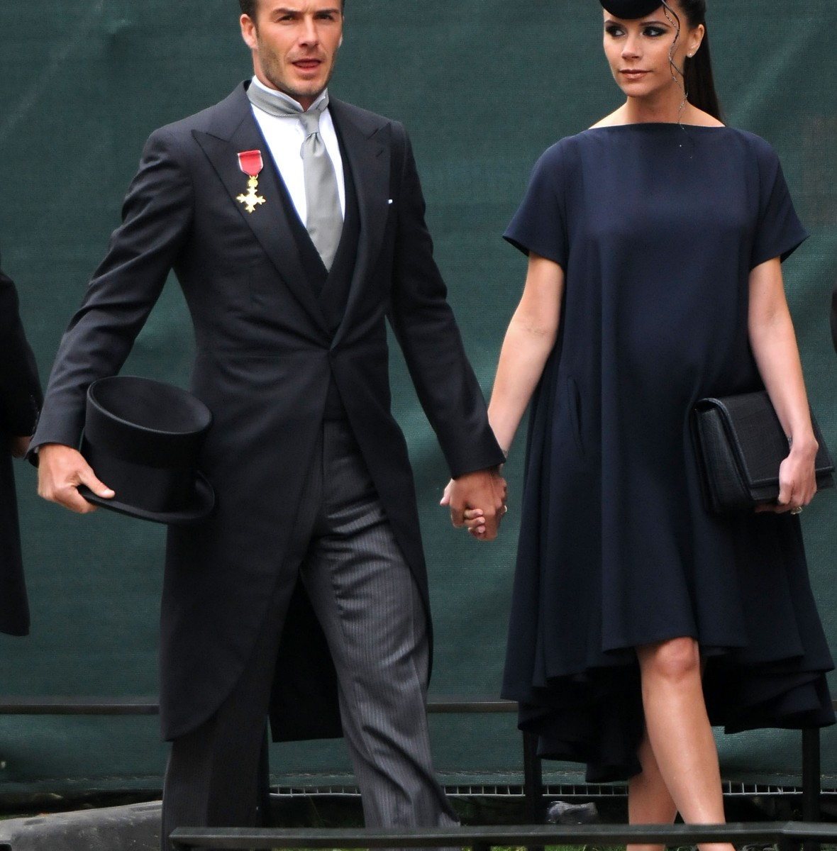 victoria and david beckham attends kate middleton's wedding getty images