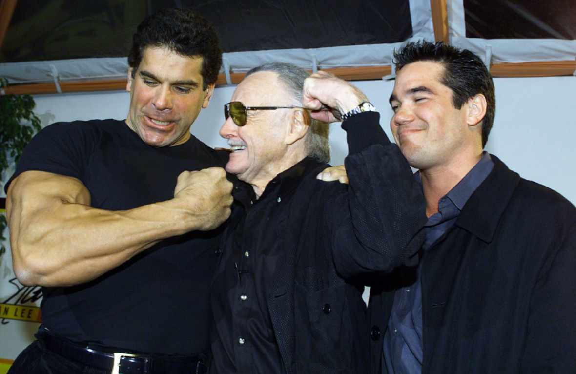 dean cain with lou ferrigno and stan lee