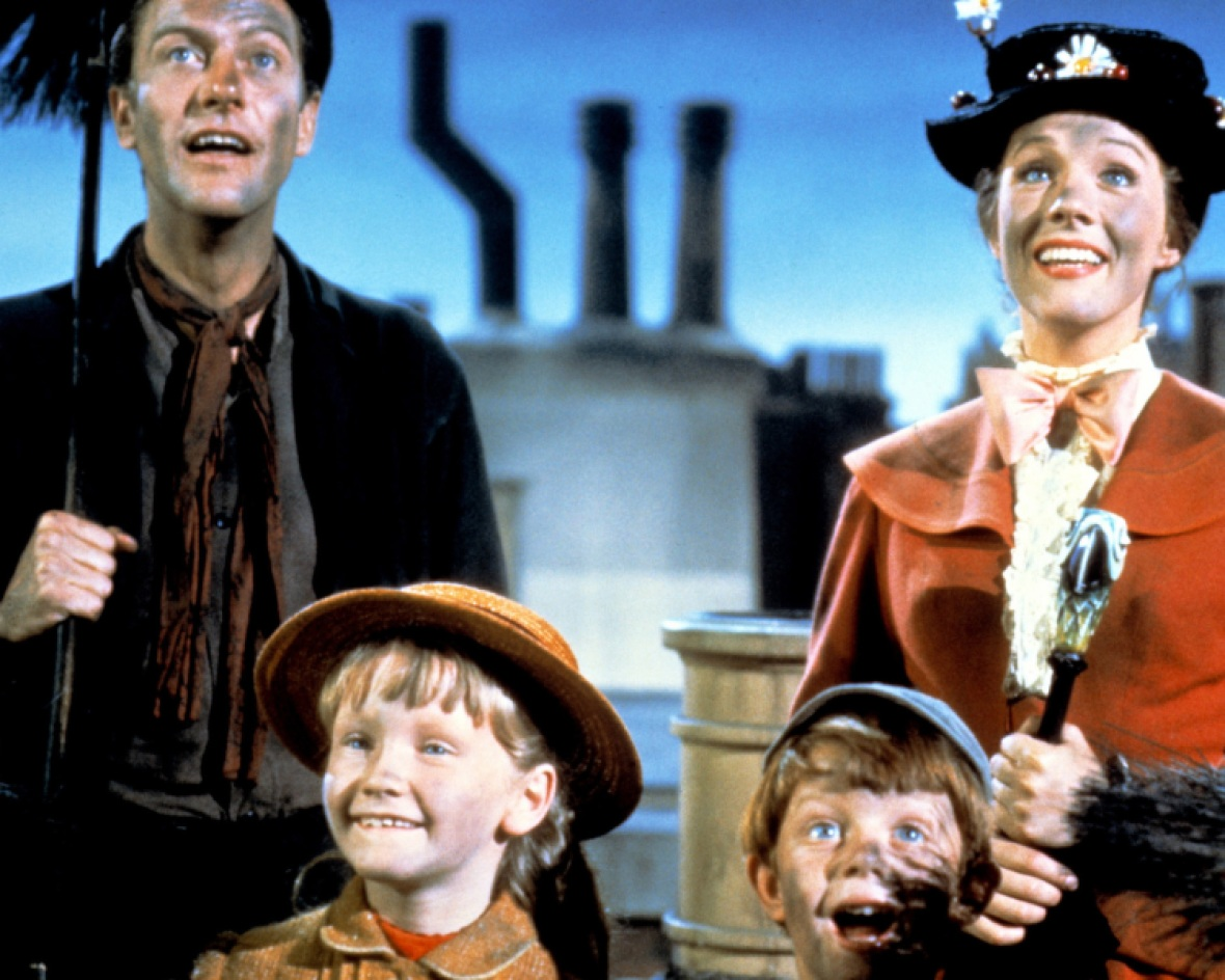 dick van dyke julie andrews 'mary poppins' getty images