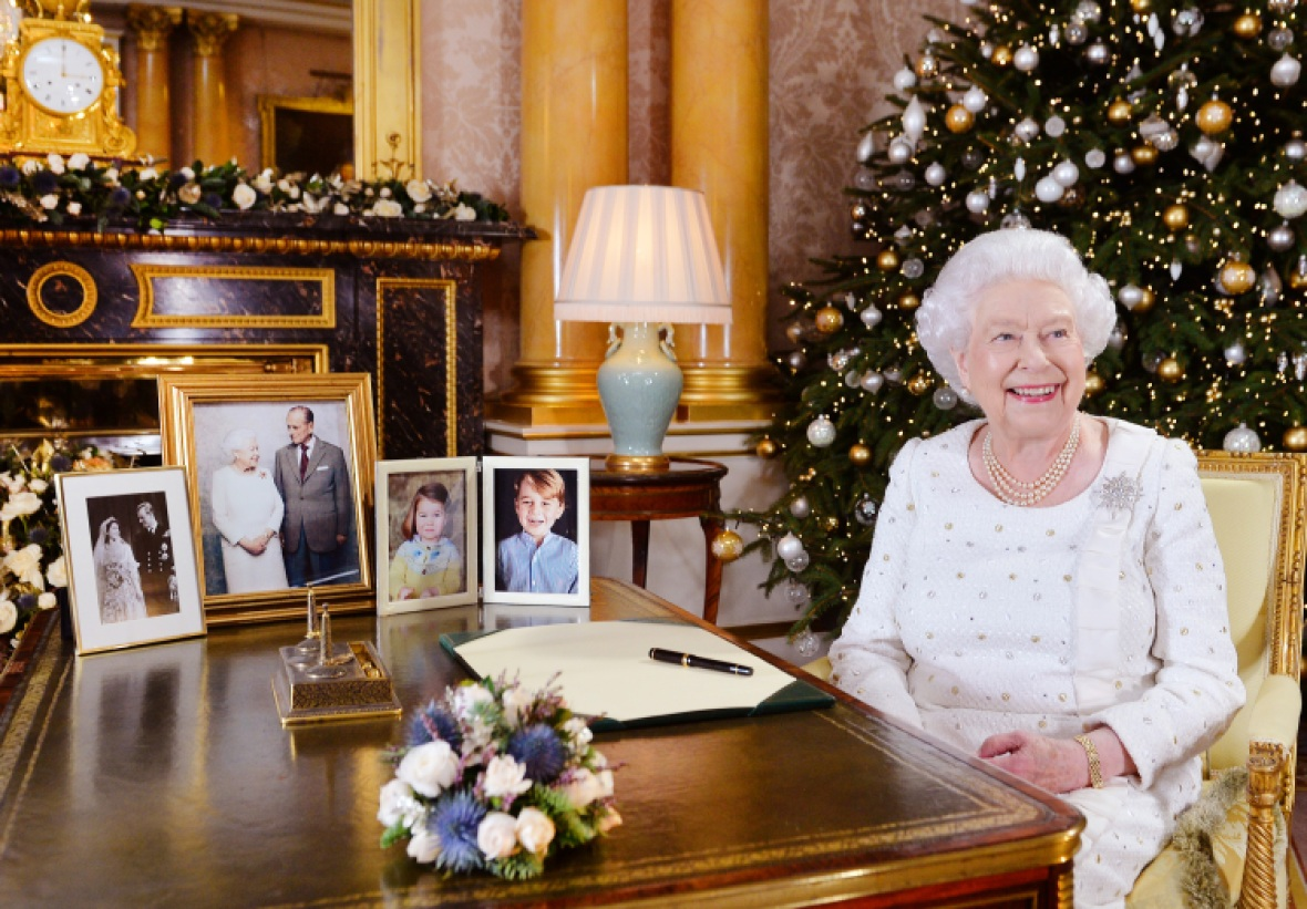 queen elizabeth christmas message 2017 getty images