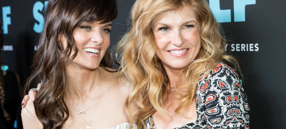 frankie shaw and connie britton getty images