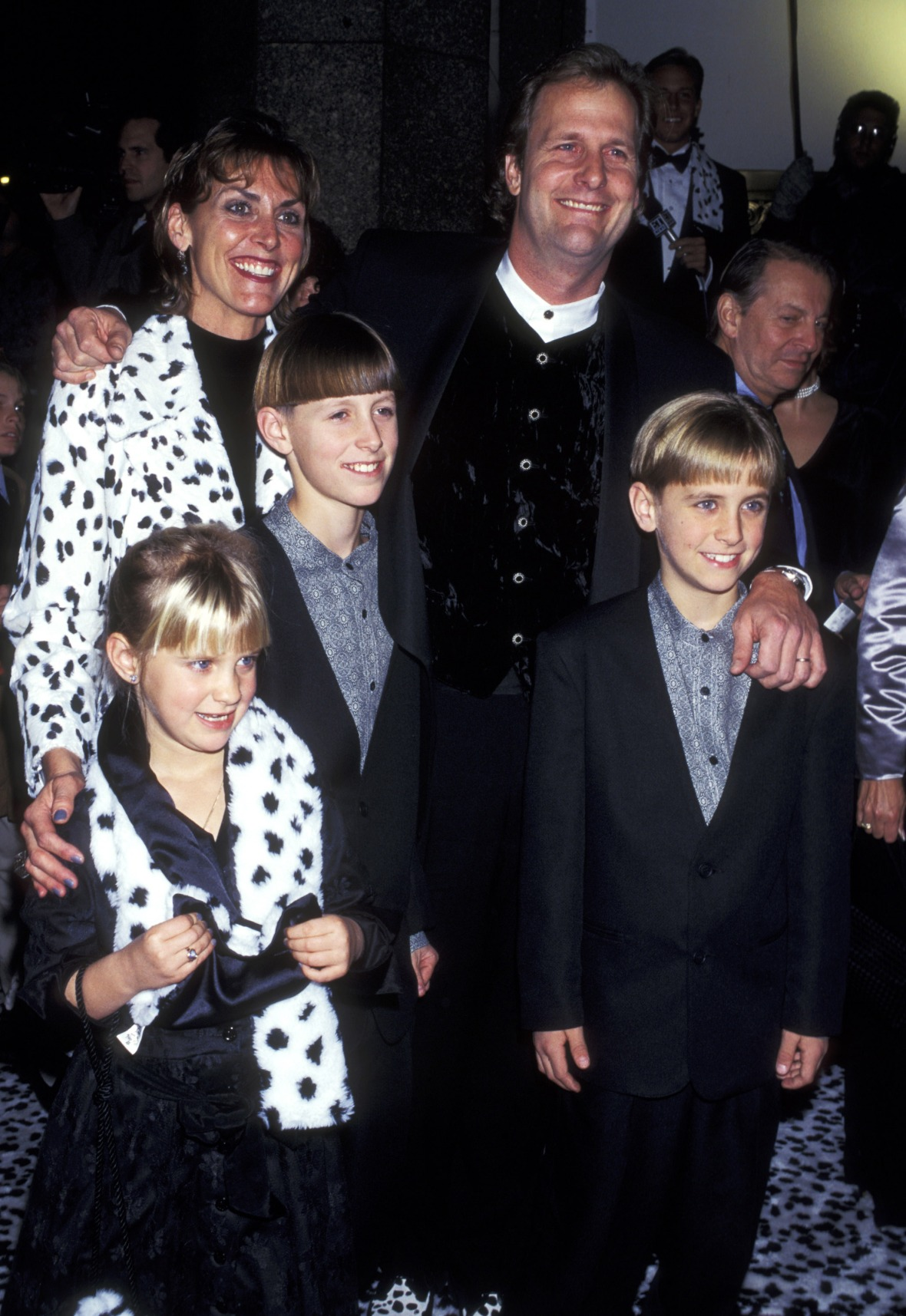 jeff daniels and his family getty images