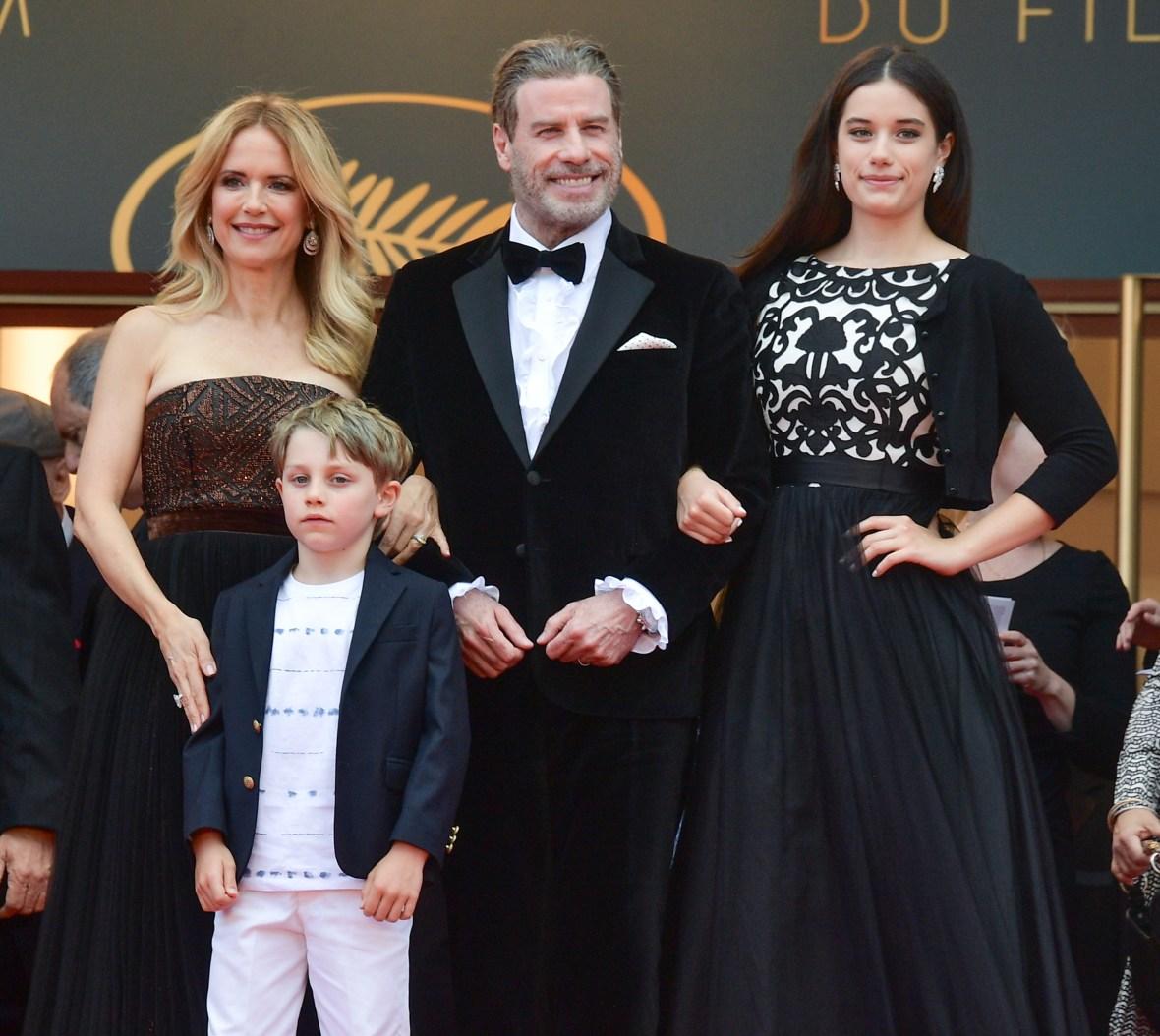 john travolta family getty images