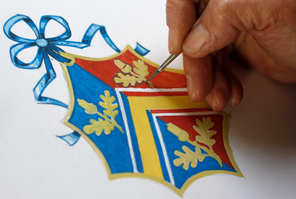kate middleton coat of arms getty