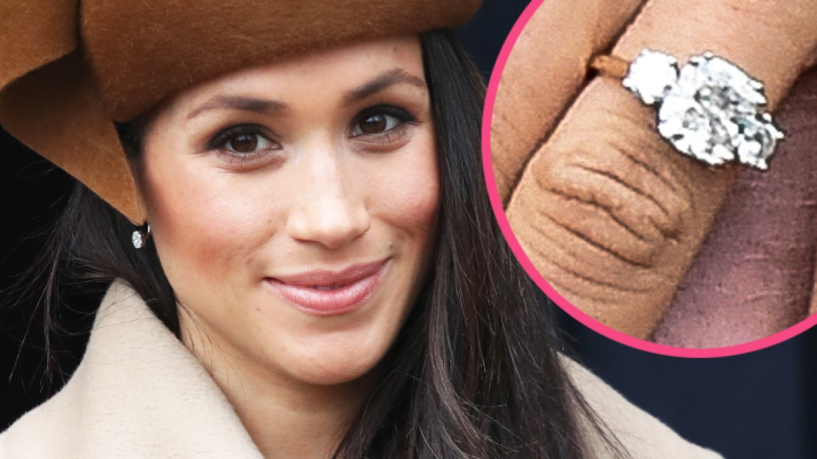 meghan markle engagement ring getty images