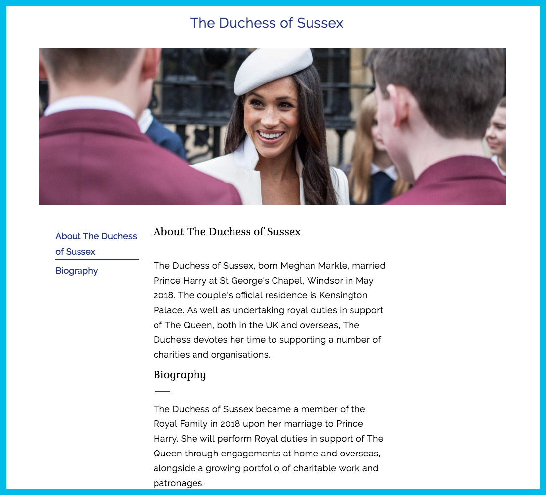 meghan markle royal family website r/r
