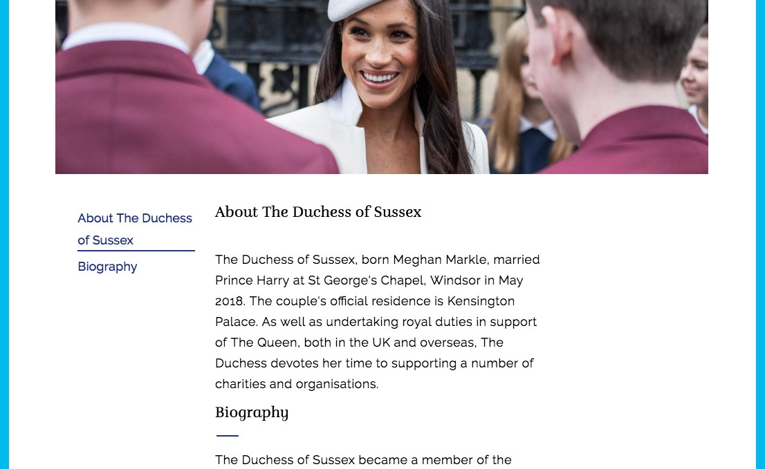 meghan markle royal family website r/r