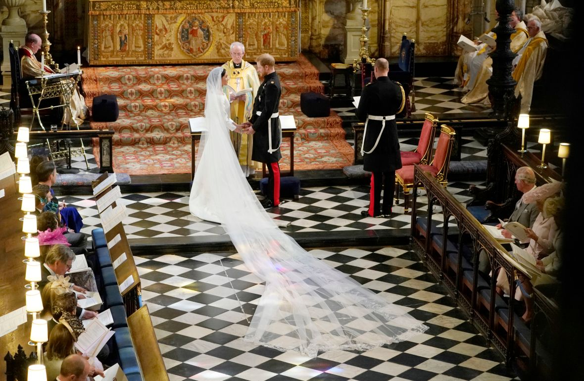 meghan markle veil getty images