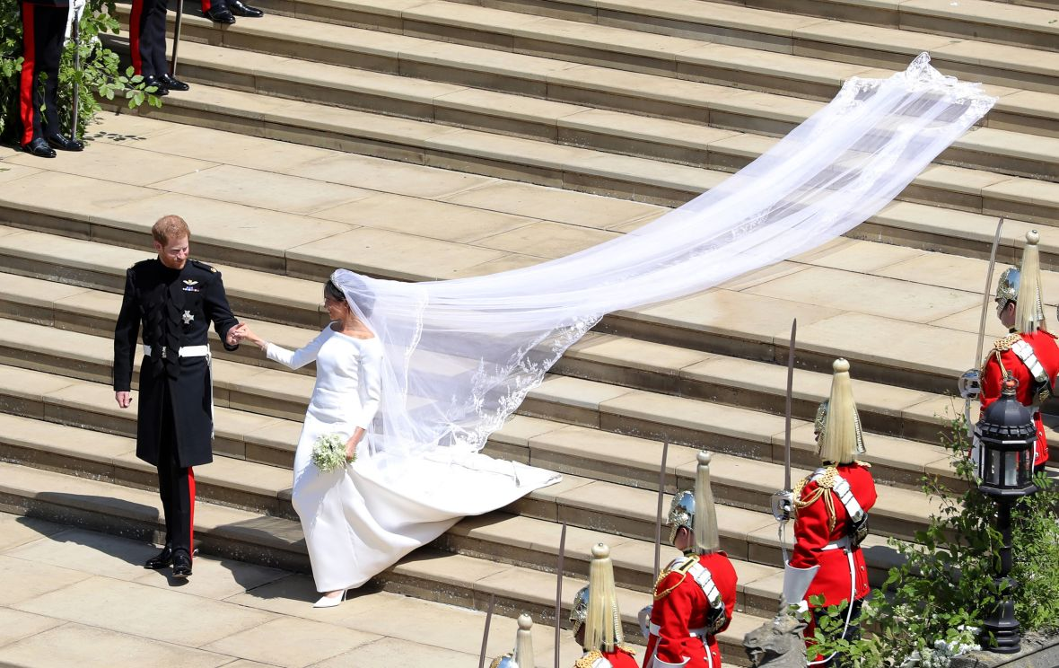 meghan markle wedding dress getty images