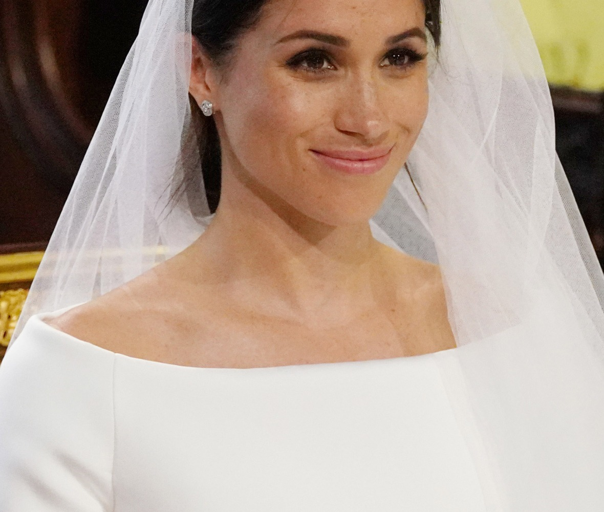 meghan markle wedding dress top getty images
